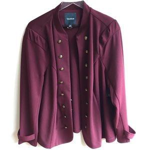 ModCloth Burgundy Glam Believer Knit Jacket 2X
